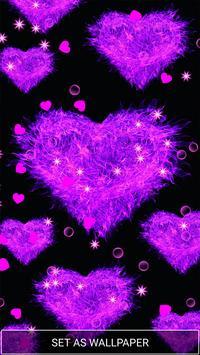 Purple Love Heart Live hd Wallpaper apk screenshot