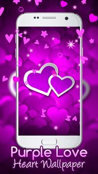 Purple Love Heart Live hd Wallpaper screenshot 4