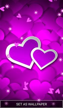Purple Love Heart Live hd Wallpaper screenshot 6