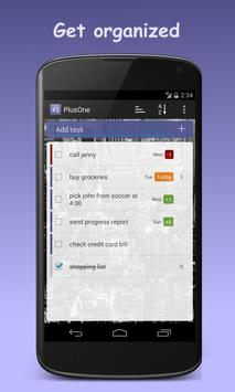 PlusOne Task List & Todo List screenshot 1