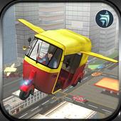 Flying Tuk Tuk Driving Simulator - Taxi Games icon