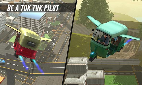 Flying Tuk Tuk Driving Simulator - Taxi Games poster
