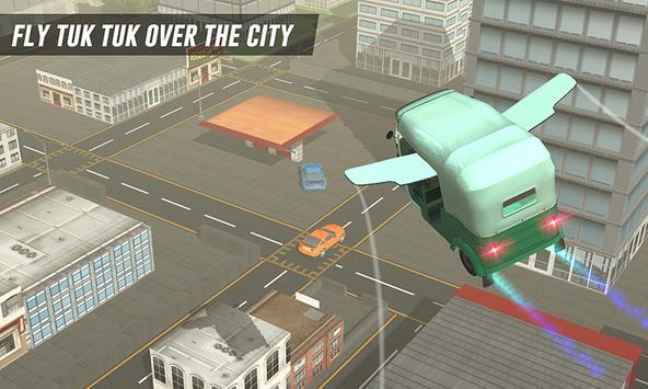 Flying Tuk Tuk Driving Simulator - Taxi Games apk screenshot