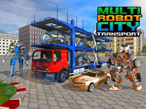 Multi Robot City Transport Sim apk screenshot