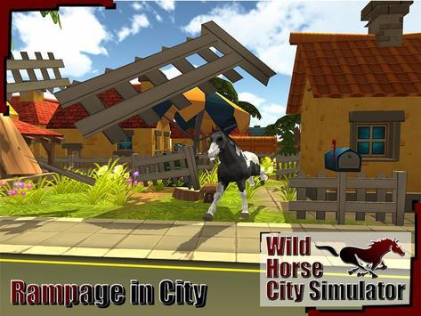Wild Horse City Rampage 3D screenshot 11