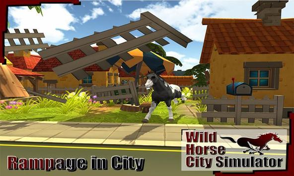 Wild Horse City Rampage 3D screenshot 3