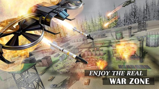 Modern Drone Air Strike Battle! Gunship Combat 3D poster