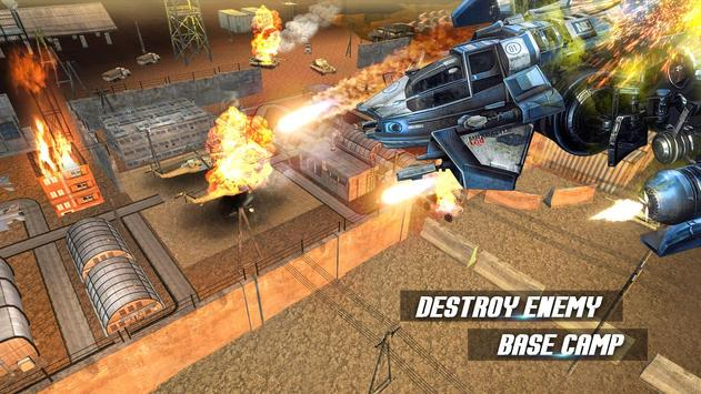 Modern Drone Air Strike Battle! Gunship Combat 3D screenshot 1
