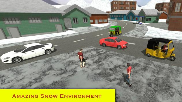 Snow City Tuk Tuk Driving 2017 apk screenshot