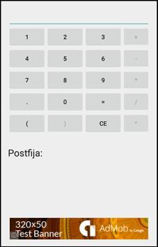 Calculadora Infija Postfija screenshot 1
