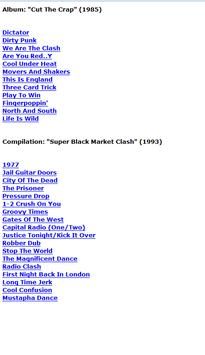 The Clash Lyrics poster
