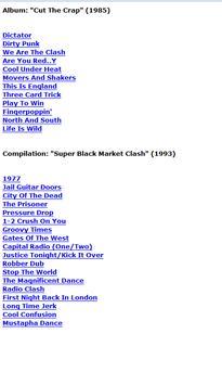 The Clash Lyrics apk screenshot