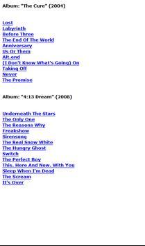 The Cure Lyrics apk screenshot