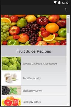 Fruit Juice Recipes poster