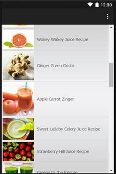 Fruit Juice Recipes apk screenshot
