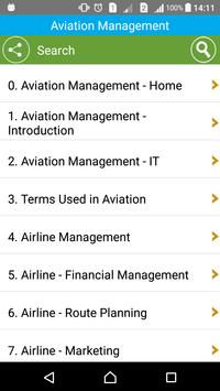 Learn Aviation Management poster