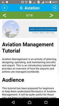 Learn Aviation Management apk screenshot