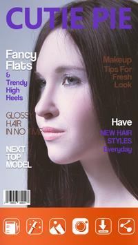 Magazine Cover Photo Frame poster