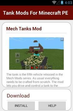 Tank Mods For Minecraft PE apk screenshot