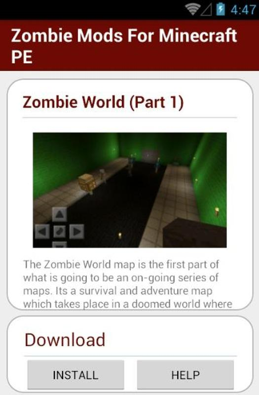 Zombie Mods For Minecraft PE APK Download - Free Entertainment APP ...