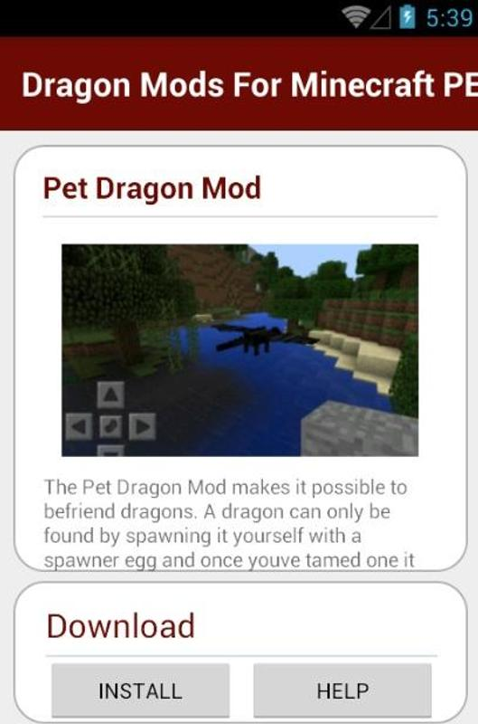 how to train your dragon mod for minecraft pe