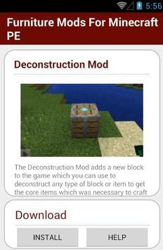 Furniture Mods For MinecraftPE apk screenshot