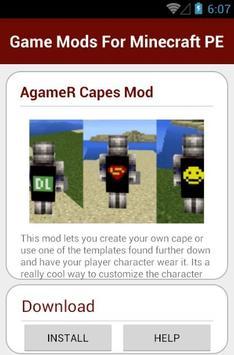 Game Mods For Minecraft PE apk screenshot