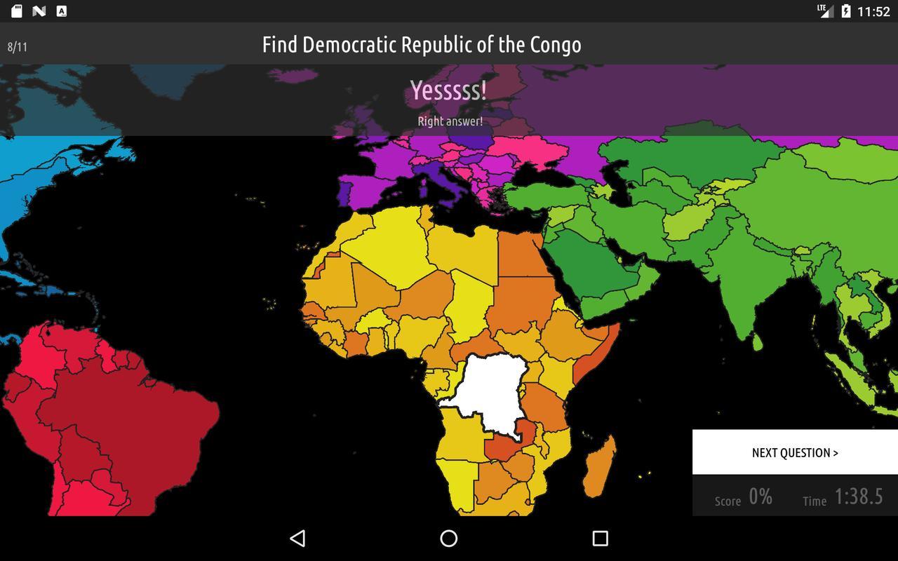 Blank map quiz descarga apk gratis educativos juego para android blank map quiz captura de pantalla de la apk gumiabroncs Choice Image