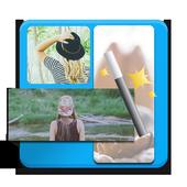 Premium photos collage icon