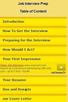 Job Interview Prep poster