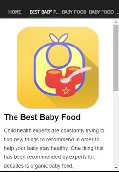 The Best Baby Food apk screenshot