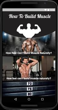How To Build Muscle screenshot 1