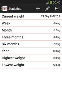 Weight Tracker Lite apk screenshot