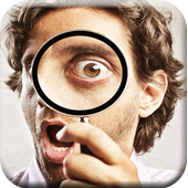 Magnifying Glass Camera Zoom icon
