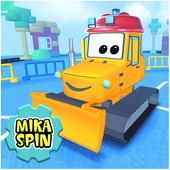 Children Small Dozer - kids games in sandbox town icon