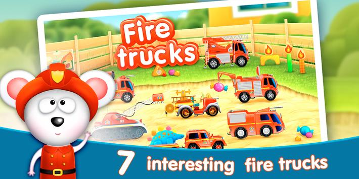 Firetrucks: rescue for kids poster