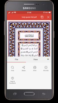 Holy Quran Android Free screenshot 1