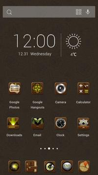 Brown OS Theme apk screenshot