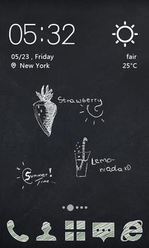 Chalk Graffiti Theme apk screenshot