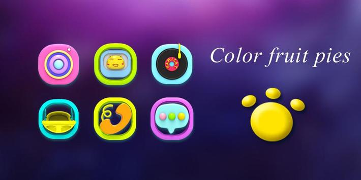 Color fruit pies Theme poster