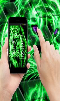 Neon Tiger Keyboard Theme poster