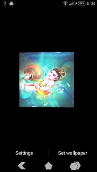 Krishna Ji Cube Live Wallpaper apk screenshot