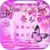 Pink Orchid Theme Wallpaper icon