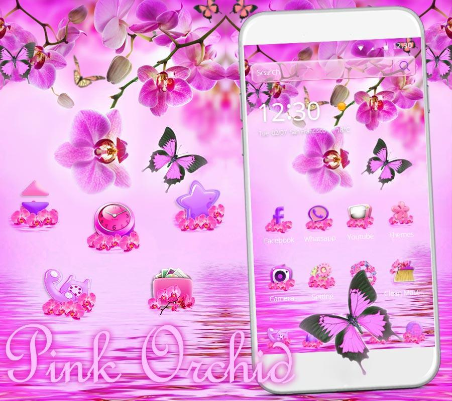 Pink Orchid Theme Wallpaper For Android Apk Download