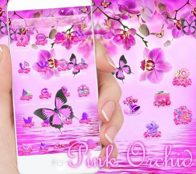 Pink Orchid Theme Wallpaper screenshot 1