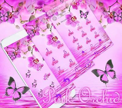 Pink Orchid Theme Wallpaper screenshot 2
