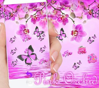 Pink Orchid Theme Wallpaper screenshot 9