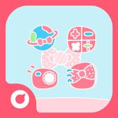 Pink Bow Solo Theme icon