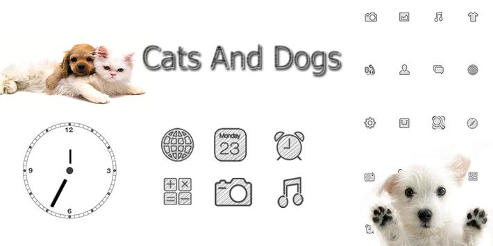 Cats And Dogs Theme poster