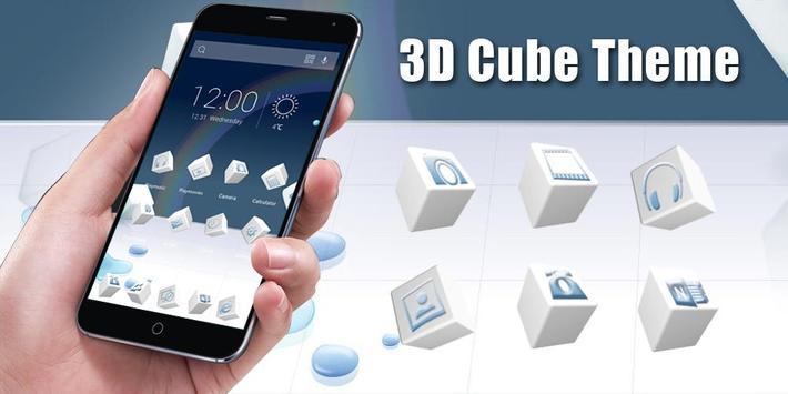3D Cube Theme poster